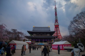 tokyo tower and shrine
