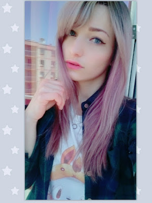 Silver pink hair color